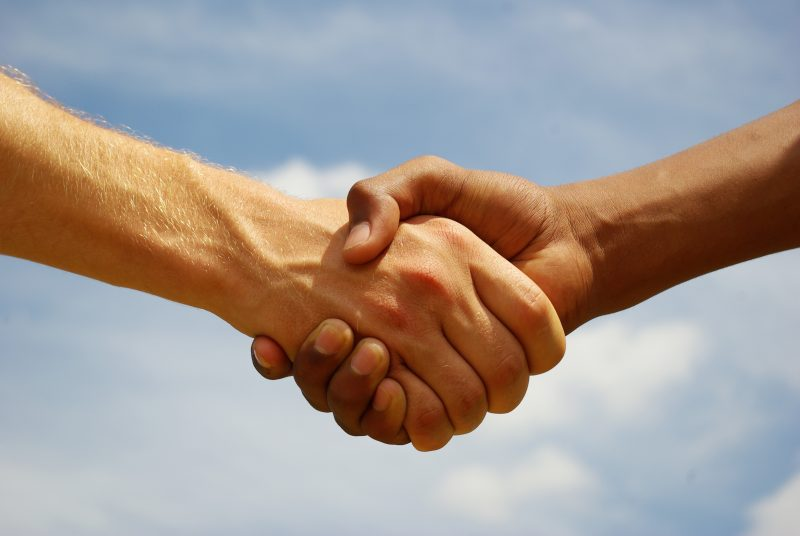 Home Inspection handshake