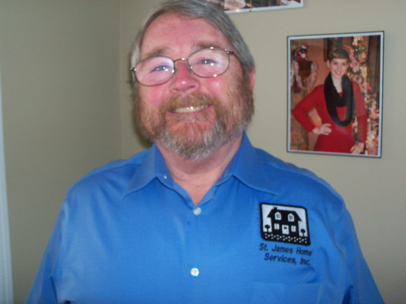 Home Inspector Jim Connelly Blue Shirt